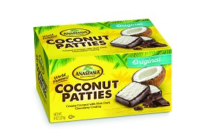 Coconut Patties - Two 8 oz Boxes